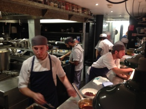 The chefs at Jamie Oliver's Fifteen restaurant