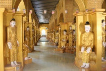 100s of Buddha images in Amarapura