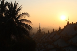 Sunrise over yangon