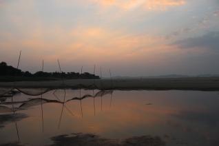 Fishing nets on the beach