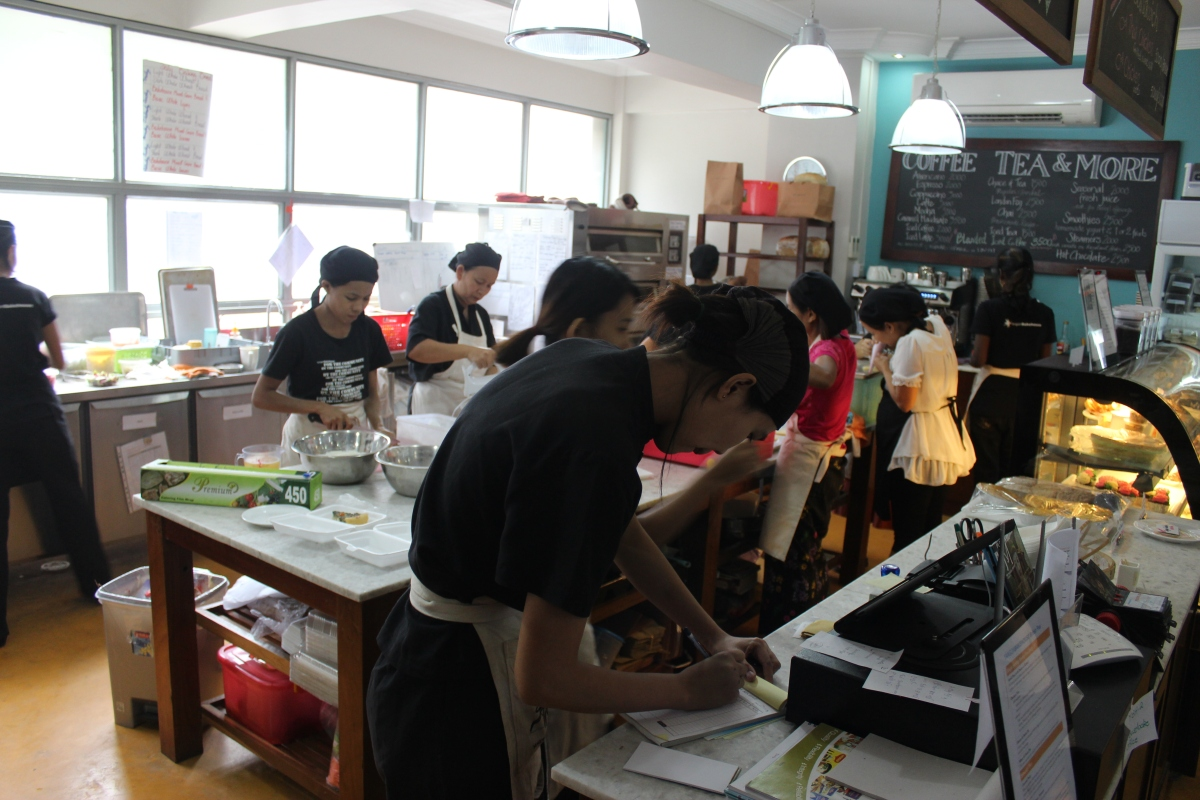 Busy in the YBH Kitchen