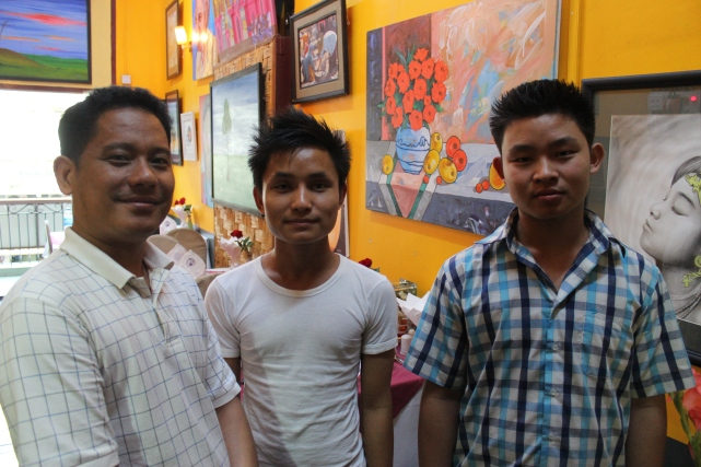 Chef Ko Ye and his assistants