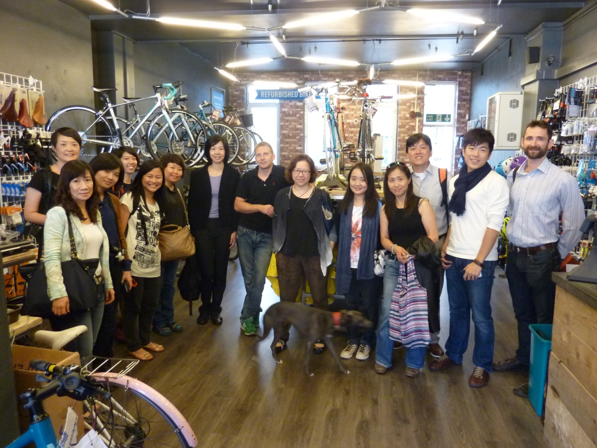 Beautiful shop (and group!)
