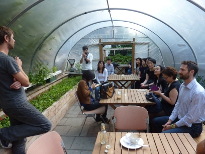 Inside the hydroponic pod